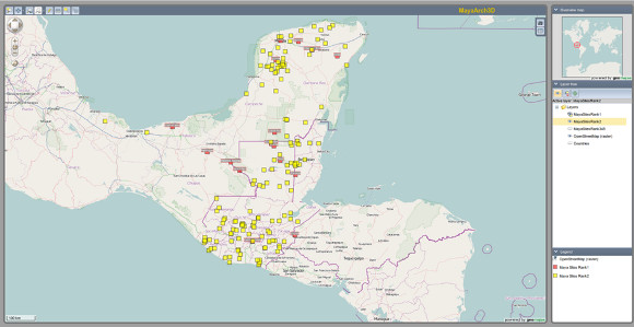 Screenshot of gemajas webgis client